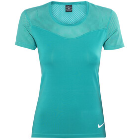 Nike Pro Hypercool SS Shirt Women teal charge/white